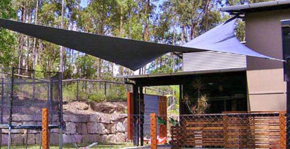 One of our custom shade sails in the Brisbane area