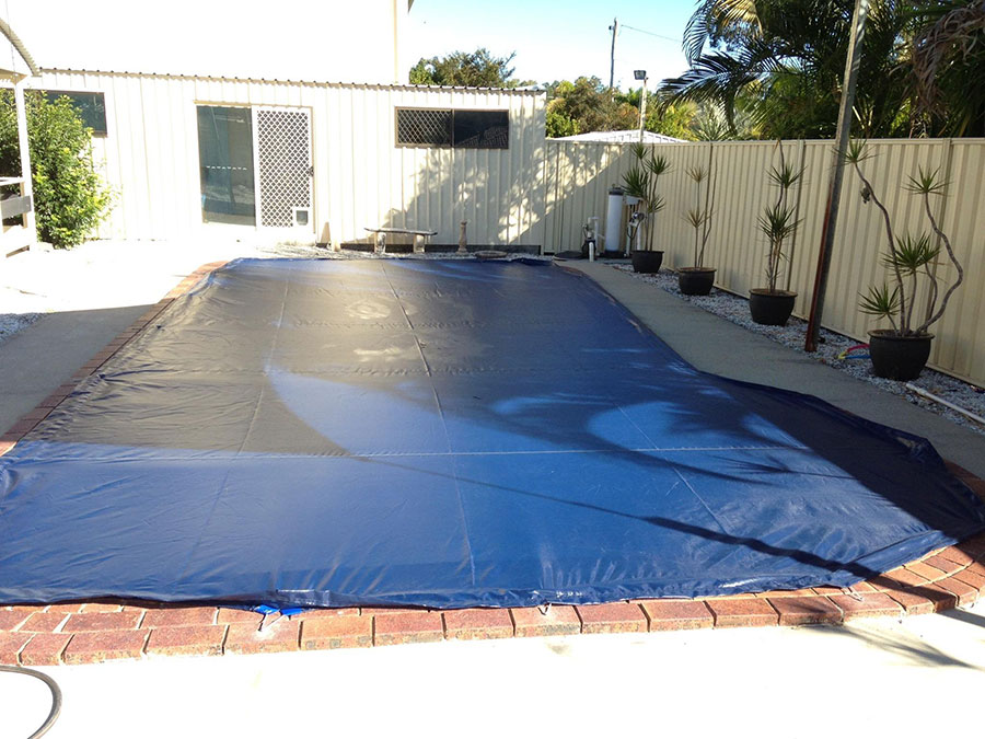 Pool Cover over Large Pool